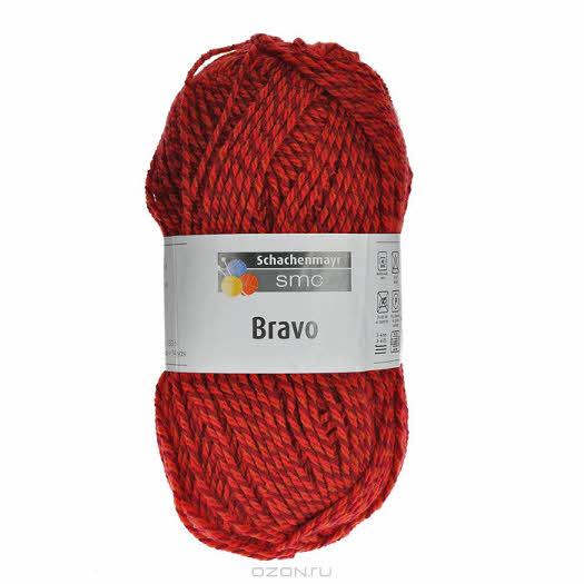 """Пряжа для вязания """"Bravo"""", цвет: красный, бордовый (08189), 133 м, 50 г"""