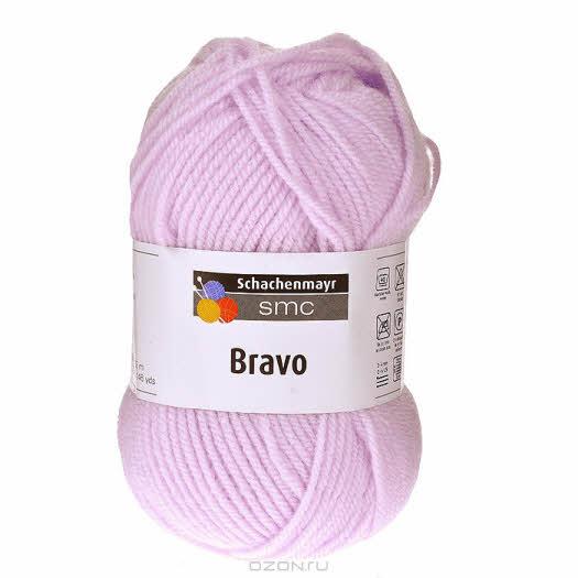 """Пряжа для вязания """"Bravo"""", цвет: светло-сиреневый (08316), 133 м, 50 г"""